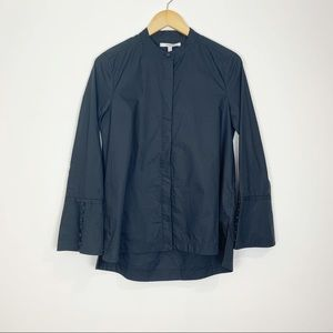 Derek Lam Dark Navy Cotton Button Down Size 6